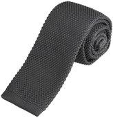 DAO3E01U Dim Grey Solid Best For Designer Knit Skinny Neck Tie Woven Microfiber Perfect Fashion By Dan Smith