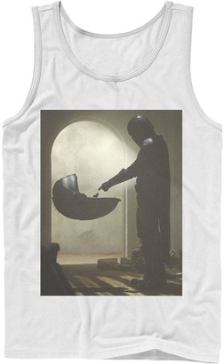 Star Wars Men's The Mandalorian The Child First Meeting Poster Tank