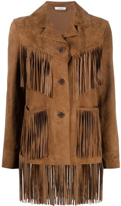 P.A.R.O.S.H. Fringed Suede Goat Skin Jacket