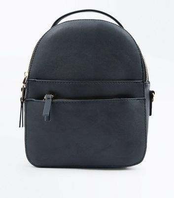 New Look Black Convertible Strap Micro Backpack