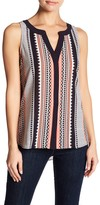 Sanctuary Printed Button Up Tank