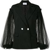 Osman lace sleeve double breasted blazer - women - Polyamide/Spandex/Elastane/Viscose/Wool - 6