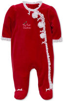 Little Me Baby Girls' Rosette Footed Pajamas
