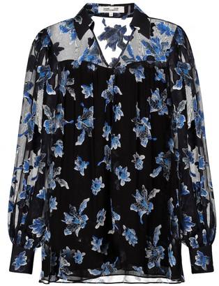 Diane von Furstenberg Heidi floral chiffon top