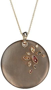 Alexis Bittar Crystal & Large Disc Pendant Necklace, 16