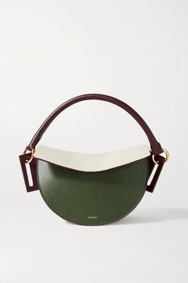 Yuzefi Dip Color-block Leather Shoulder Bag
