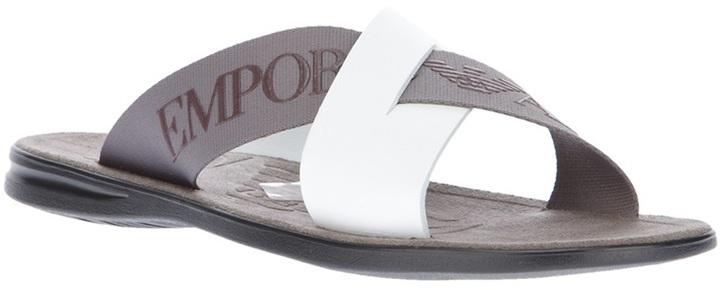 Emporio Armani logo flip flop