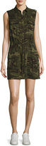 Haute Hippie The Safari Sleeveless Camo Dress, Olive