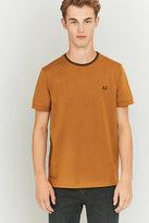 Fred Perry Dark Caramel Ringer T-shirt