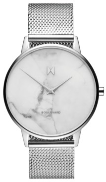 MVMT Boulevard Venice Marble Stainless Steel Mesh Bracelet Watch 38mm