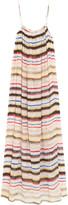 Marysia Swim Carmel striped cotton and silk-blend gauze maxi dress