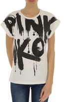 Pinko Women's White Cotton T-shirt.