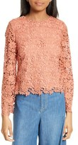 Alice + Olivia Women's Pasha Bell Sleeve Lace Top