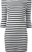 Zoe Karssen off-shoulders striped dress - women - Polyester/Viscose - S