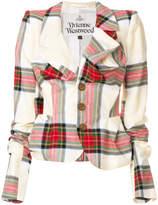 Vivienne Westwood ruched tartan blazer