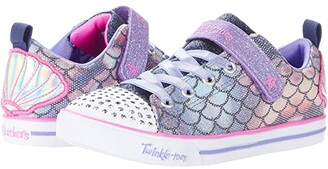 Skechers Twinkle Toes - Sparkle Lite 314752L (Little Kid/Big Kid) (Navy/Multi) Girl's Shoes