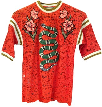 Gucci Red Lace Tops