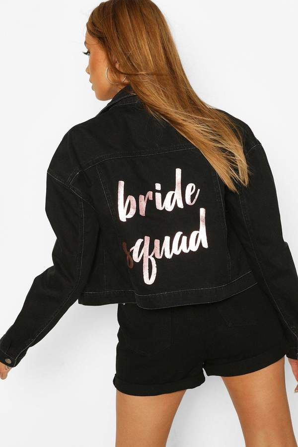 Bride's Squad Slogan Denim Jacket
