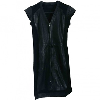 Diesel Black Gold Black Leather Dress for Women