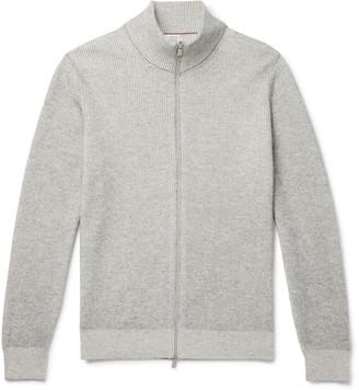 Brunello Cucinelli Ribbed Cashmere Zip-Up Cardigan