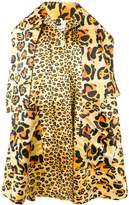 Richard Quinn leopard oversized coat