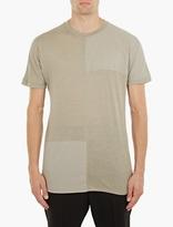 Helmut Lang Pale Green Panelled T-Shirt