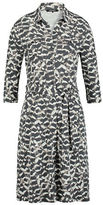Olsen Feather Print Shirt Dress