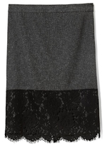 Vince Camuto Lace-Trim Tweed Skirt