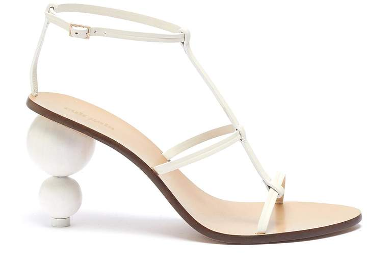 Cult Gaia 'Eden' wooden ball heel leather sandals