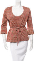 Magaschoni Patterned Cardigan Set