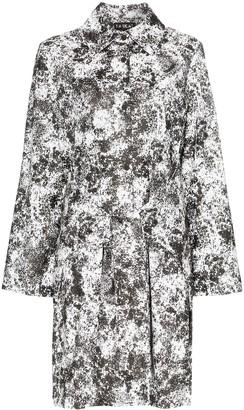PASKAL clothes Reflective lunar print belted raincoat