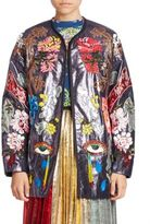 Romance Was Born Embroidered Open Front Long Sleeve Jacket
