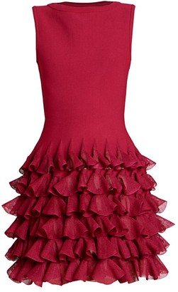 Alaia Habanera Sleeveless Ruffle Skirt Dress