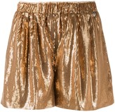 Twin-Set Twin Set high-waisted sequinned shorts