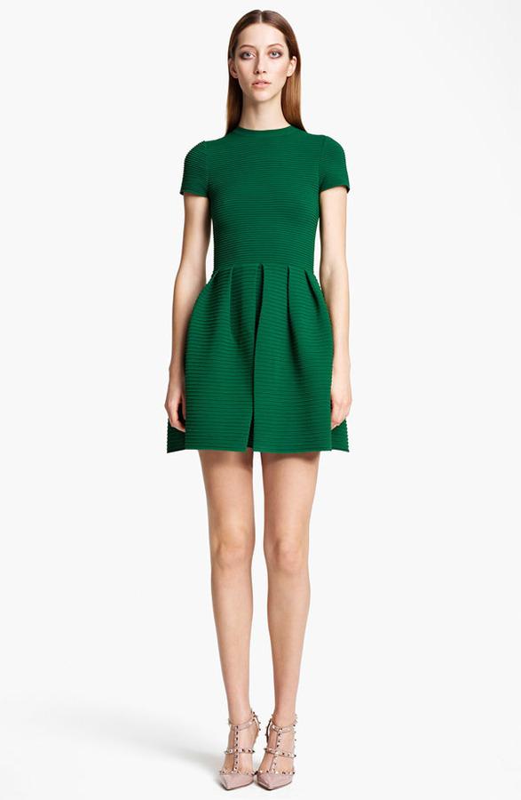 Valentino Open Back Full Skirt Dress