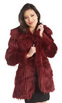 Rachel Zoe Luxe Faux Fur Convertible Collar Coat