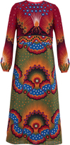 Valentino Enchanted Wonderland and Volcano-print silk dress