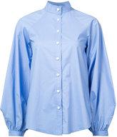 Derek Lam mandarin neck shirt - women - Cotton/Spandex/Elastane - 42