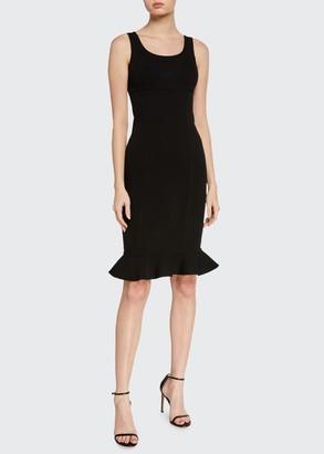 Michael Kors Double-Ruffle Sheath Dress