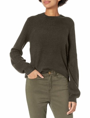 Daily Ritual Amazon Brand Women's Mid-Gauge Stretch Balloon Sleeve Crewneck Sweater