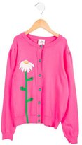 Milly Minis Girls' Appliqué-Accented Button-Up Cardigan