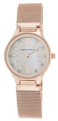 Anne Klein Women's Hannah Quartz Watch with Pink Dial Analogue Display and Rose Gold Alloy Bracelet AK/N2418BMRG