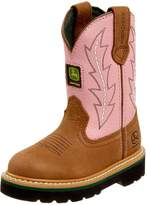 John Deere Girls Toddler Kids Pink Cowboy Boots 13.5