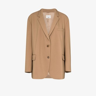 Frankie Shop Bea single-breasted boxy blazer
