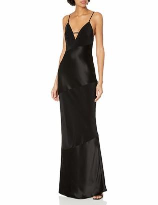 ABS by Allen Schwartz Women's Bias Satin Slip Gown with Spaghetti Strap Details at Back