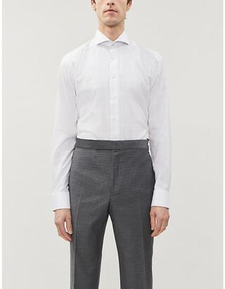 Eton Checked slim-fit cotton-poplin shirt