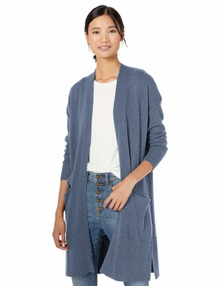 Goodthreads Amazon Brand Women's Wool Blend Jersey Stitch Longline Cardigan Sweater