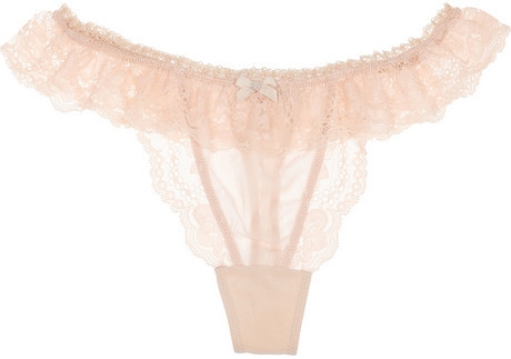 Elle Macpherson Intimates Sultry Dreams stretch-silk and lace thong