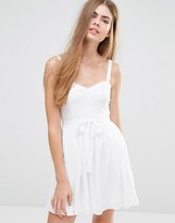 Jack Wills Belted Dress With Full Skirt