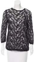 Etoile Isabel Marant Guipure Lace Long Sleeve Top